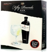 Fifty Pounds Gin Gift Set with 1 Glass