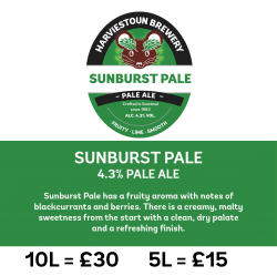 Harviestoun Sunburst Pale Ale, Polypin