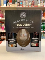 Harviestoun Ola Dubh Twin Gift Pack, with Glass