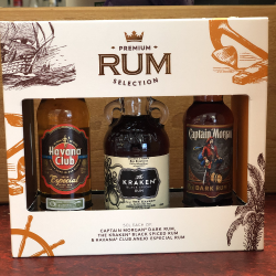 Premium Rum Selection, Miniature Gift Set - 3 Pack